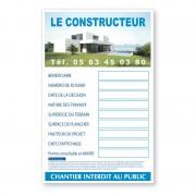 Panneaux alvéolaires : Permis de construire, format 80 x 120 cm et textes homologués