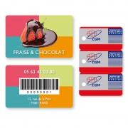 Cartes plastiques laminées aux normes ISO des Cartes Bancaires